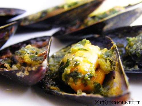 moules persillade
