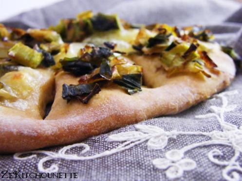 fougasse poireaux mozzarella