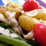 salade dorade haricots