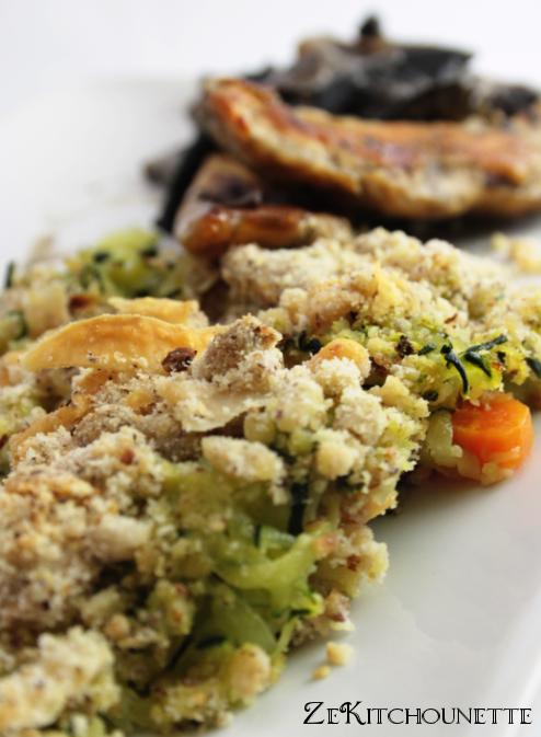 Crumble de courgettes noisettes et parmesan zekitchounette - Cuisiner avec se que j ai dans mon frigo ...