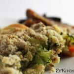 crumble courgette noisette parmesan