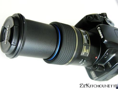 Appareil numérique canon 400D avec objectif macro