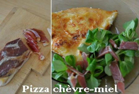 pizza chevre miel