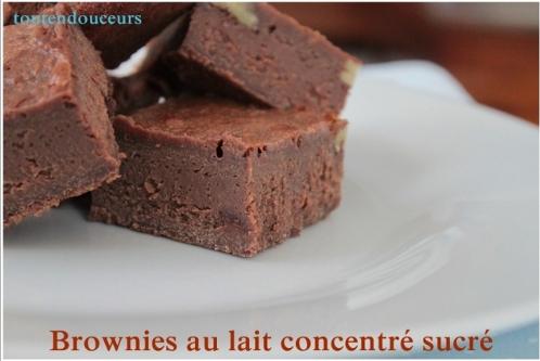 brownie au lait concentré sucré