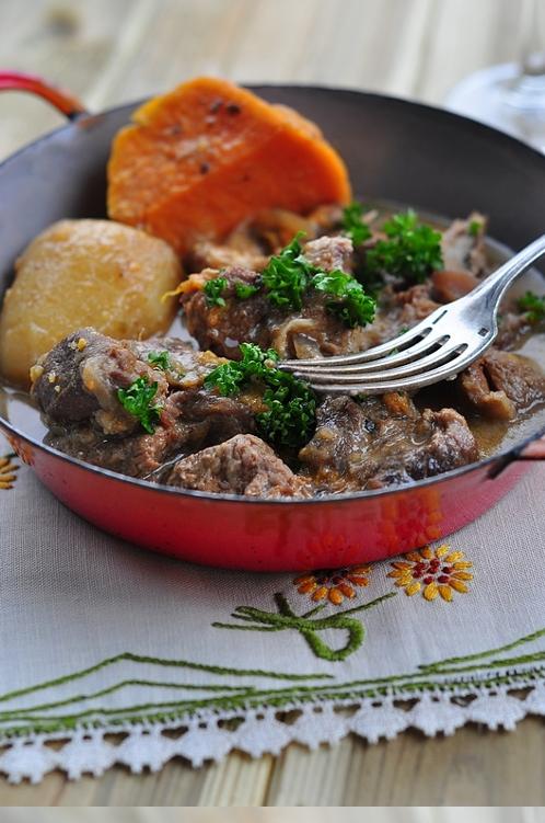 navarin d'agneau au paprika et patate douce
