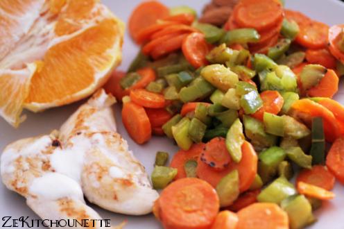 poulet et poellée de légumes