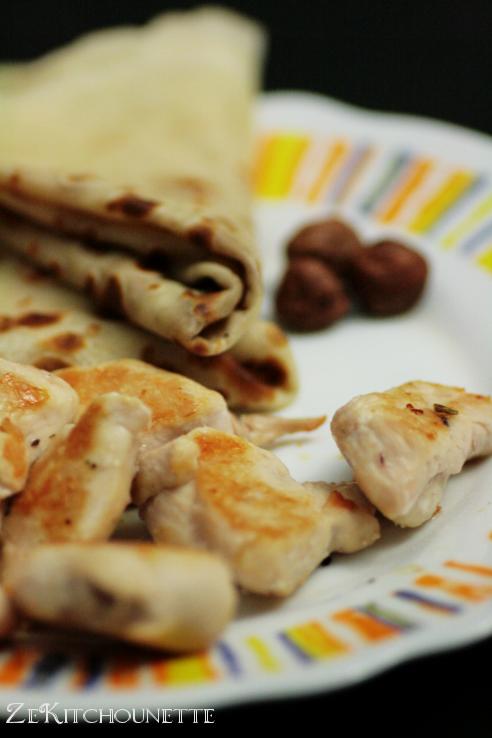petit déjeuner crepes poulet