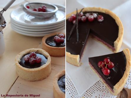 tartelette chocolat fruits rouges
