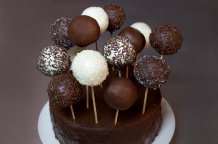 cake pops chocolat noir intense