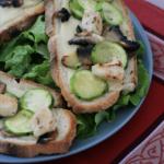 bruschetta courgettes poulet
