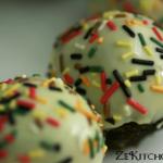 cake balls glacés au chocolat blanc
