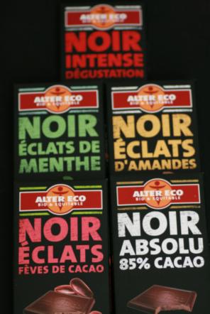 chocolats noirs alter eco