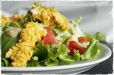 Salade poulet croustillant