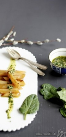 salsifi pesto d'épinards