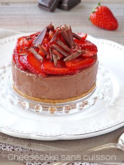cheesecake chocolat fraises