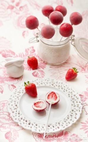 fraises pop glacées