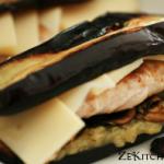 sandwich d'aubergine vue complète