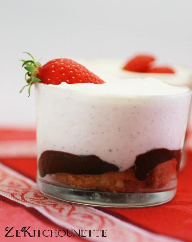 tiramisu fraise vanille chocolat