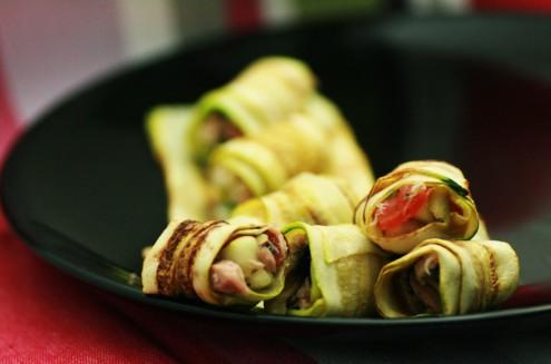 roulade courgette au thon et petit légumes