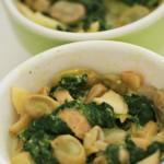 crumble salé fève épinard parmesan