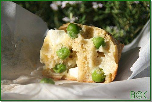 muffins petits pois chèvre frais