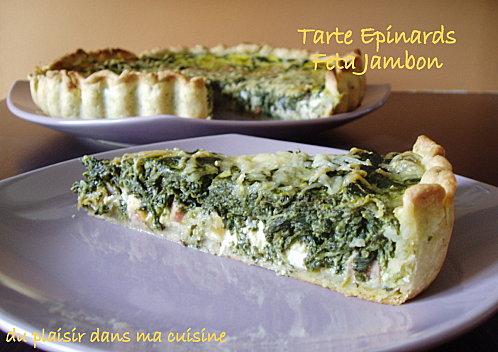 tarte épinards feta jambon