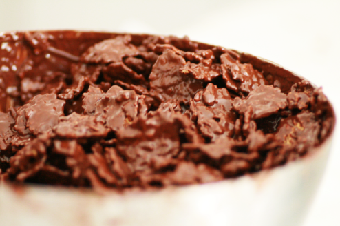 céréales fitness enrobées de chocolat