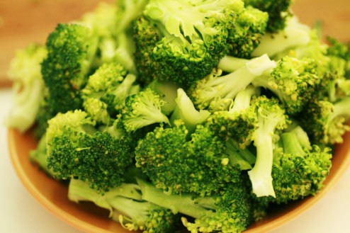 bouquets de brocoli séparés