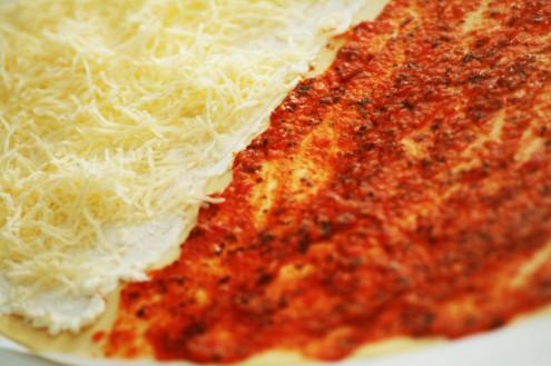 pâte au fromage et à la tomate