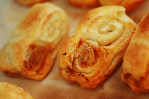 mini palmiers fromage tomate