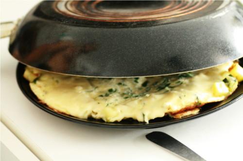 omelette retournée