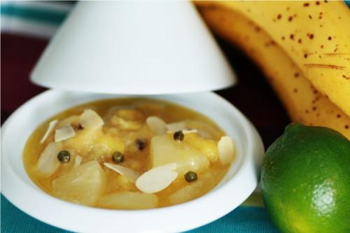 salade fruit tiède banane poivre vert