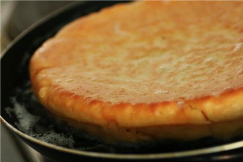 omelette sucrée retournée