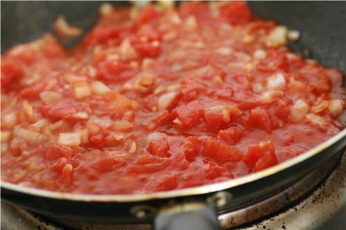 tomate et purée de potiron