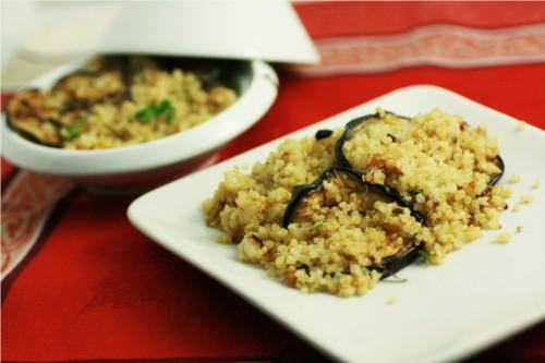 aubergine grillée salade de quinoa