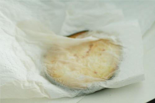 aubergine papier absorbant