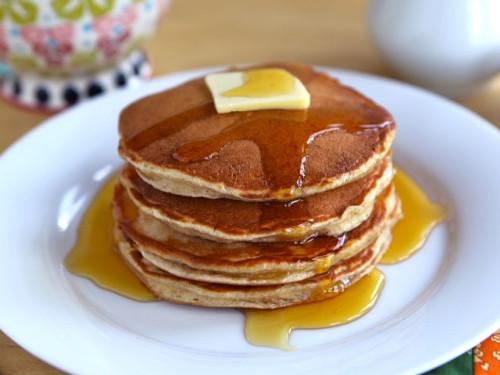 Pancakes au beurre de cacahuete