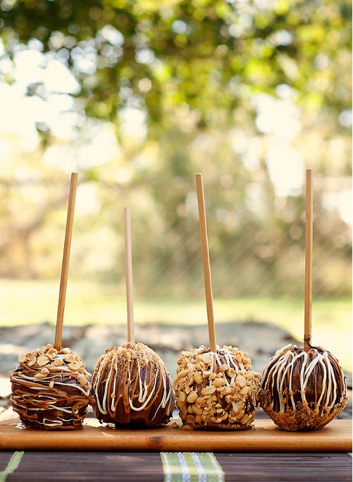 pomme d'amour chocolat coeur de beurre de cacahuète