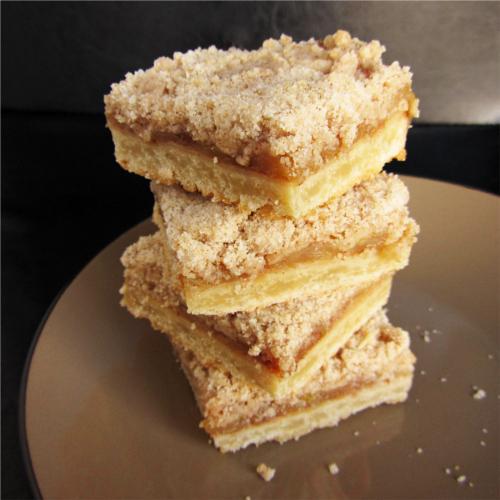 barre de tarte aux pommes