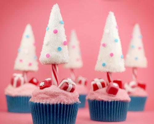sapin de noel cupcake - christmas tree cupcakes