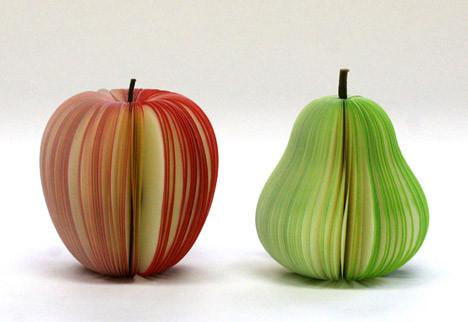 pomme et poire feuilletées