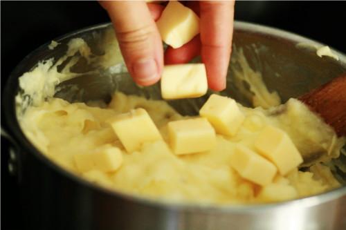 fromage dans purée