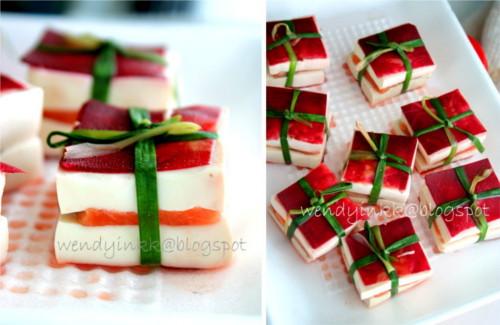 gift tofu salmon - cadeaux au tofu et saumon