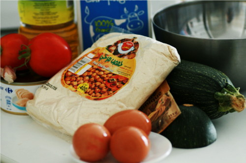 ingrédients pour cake thon courgette