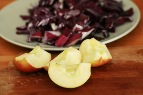 pommes coupées en quartier