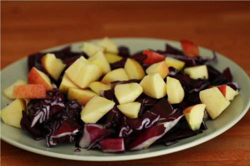 salade chou rouge et pomme