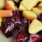 salade de chou rouge aux pommes