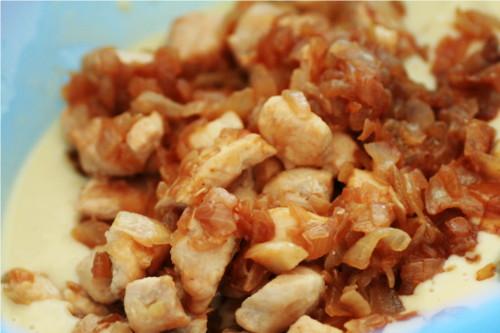 poulet oignon caramélisés