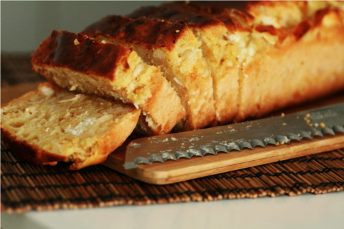 cake chevre poulet pomme farine pois chiche