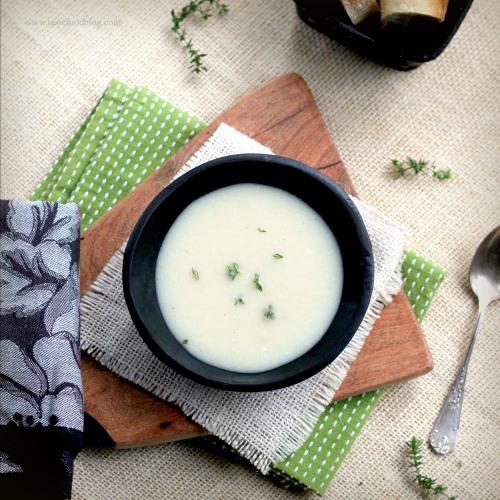 cauliflower-potato-soup soupe de chou fleur, pomme de terre